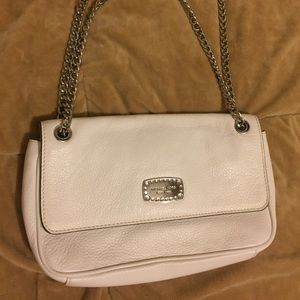 Michael Kors White Purse with Chain